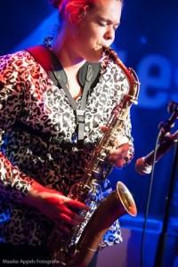 Jamy Westerveld op sax